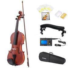 ammoon 4/4 Natural Acoustic Violin Fiddle Spruce with 3in1 Digital Tuner H4C7