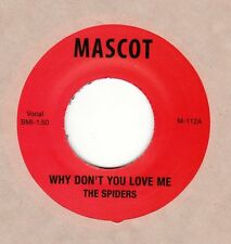 "New...SPIDERS re ""Why Don't You Love Me"" b/w ""Hitch Hike"" Mascot 45 Alice Cooper"