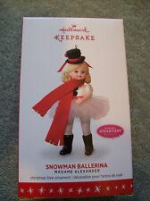 Hallmark 2016 Snowman Ballerina Madame Alexander New in Box