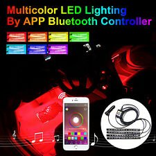 Addmotor RGB LED Light Strips Kit For Car Interior Light Phone App Music Control