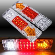 2x 12V 19 LED Car Truck Trailer Rear Tail Stop Light Indicator Lamps Waterproof