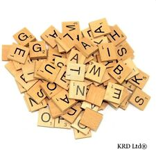 200 x Varnished Wooden Scrabble Tiles Letters Kids Alphabet Scrabbles Letter NEW
