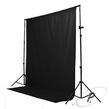 2x3m NON WOVEN BLACK STUDIO BACKDROP PHOTOGRAPHY BACKGROUND