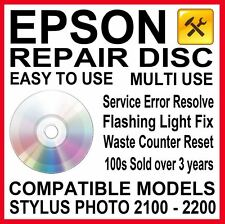 Epson Stylus Photo 2100 2200: Reset & Repair, Service Required Reset Disc