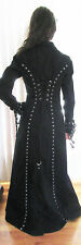Tripp NYC Daang Goodman Long Black Coat Jacket Size Women's SML Steam Punk Goth