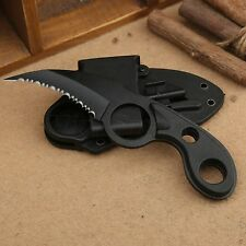 Tactical Army Survival Camping Fishing Rescue Gear Blade Stainless Steel Knife