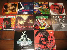 "10 Record Lot 90s 7"" Garage Punk Rock Hard Metal Indie Private UK San Diego NM"