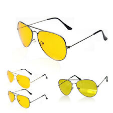 Uv400 HD Night Vision Sun Glasses Yellow Driving View Sunglasses