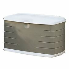 Rubbermaid 10CF Large Deck Box W Seat Patio Garden Seating Outdoor Storage New