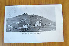 CARTOLINA MONTEU DA PO PANORAMA RARA VIAGGIATA 1906 SUBALPINA ZZ