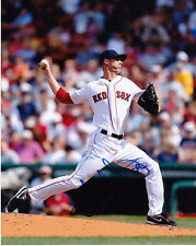 CLAY MORTENSEN  BOSTON RED SOX    ACTION SIGNED 8x10