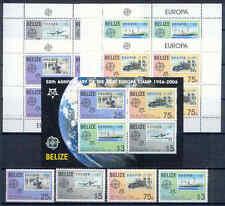 50 Jahre Europamarken, Cept - Belize - 1303-1306, Bl.102 + 4 KB ** MNH 2006