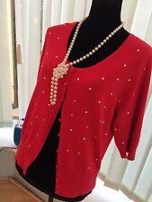 Chaqueta para mujer rojo con plata espárragos Talla 16