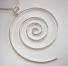 Wire Spiral Necklace 925 Sterling Silver Corona Sun Jewelry