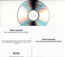 KIRAN LEONARD Don't Make Friends With Good People 2016 UK 2-trk promo test CD