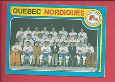 1979-80 O-PEE-CHEE Hockey # 261 QUEBEC NORDIQUES