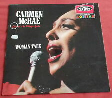 CARMEN MCCRAE LP ORIG FR 60'S VOGUE WOMAN TALK LIVE