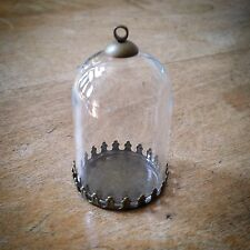 DIY Clear Dome Cloche Glass Bottle Pendant, Antique Bronze  Apothecary Terrarium
