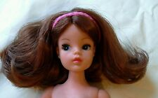 Sindy trendy reroot auburn kanekalon pretty restored doll