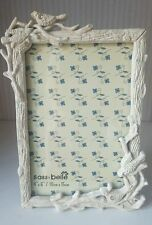 Pretty Cream Resin Photo Frame with Rhinestones and Bird Detail - Beautiful Gift