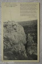 """CPA"""" Roche d' HAUTEPIERRE - Croix de 8 m au Sommet"""