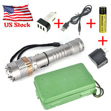 7000LM XML T6 LED Rechargeable Zoomable Flashlight 18650 Torch 3 USB Car Charger