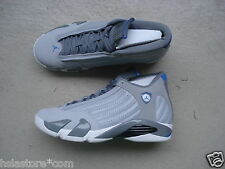 "NIKE Air Jordan 14/xiv 45.5 ""SPORT BLUE"" Wolf Grey/White-SPORT BLUE"