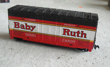 Vintage HO Scale Tyco Baby Ruth Whistling Hi Cube Box Car
