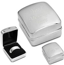 Personalised -  Engraved Ring Box Will You Marry Me