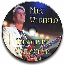Mike Oldfield Prog Rock Guitar Tabs Tablaturas canción Libro Antología Cd Software