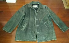 MENS WILSON LEATHER GREYSH DISTRESSED STYLE LEATHER JACKET XL NICE VINTAGE LOOK