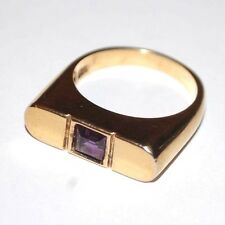 AMETHYST 925 STERLING SILVER RING BAND Size 7