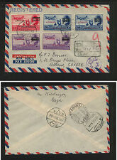 Egypt  NC18-19,21 defaced Palestine stamps registered cover to Greece     MS1228