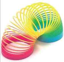Plastic 6.5cm Rainbow Spring Slinky Toy Type Strechy Springy Classic Kids Gift