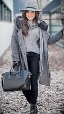 NWT Zara Sweater Coat Sz S With Fur Collar top shop blazer Jacket