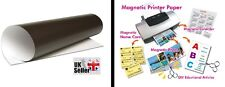 Magnetic Photo Paper 2 x A4 Inkjet Printer Digital Print Cut to Size Gloss Craft