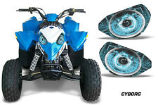 AMR Racing Head Light Eyes Polaris Outlaw 90 ATV Headlight Decals Part CYBORG U