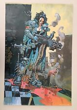 HEAVY METAL FAKK,ARMED WOMAN DESIGN BY BIZ 1996 RARE AUTHENTIC 1999 POSTER