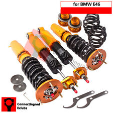 For BMW E46 3 Series Adjustable 24Way Coilover Coilovers Absorber + camber plate