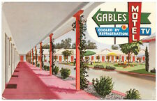 Postcard The Gables Motel in Fresno, California~105143