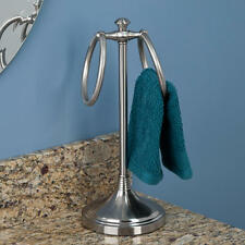 Signature Hardware Smithfield Countertop Towel Ring in Brushed Nickel