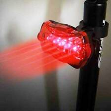 Water Resistant Front Headlight 5 LED Bicycle & Flash Blink Rear TailLight Lamp