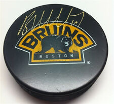 Brian McGrattan Boston Bruins signed 3rd logo puck Calgary Flames