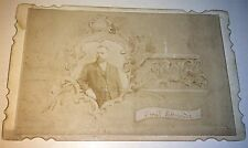 Rare Antique Victorian American Happy New Year! C.1894 Emil Schneider CDV Photo!