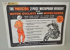 Old Motorcycle - Scooter Riders Waterproof Suit - Unused With Packing.1960's ??
