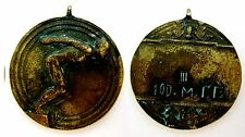 Bulgarian old medal prize for 3rd place National Championship 1942-100 m Sprint
