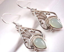 Chalcedony Tribal Accents Style 925 Sterling Silver Earrings Dangle Drop New