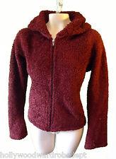 Patagonia Synchilla fleece faux vegan fur earmuff scarf red burgundy medium