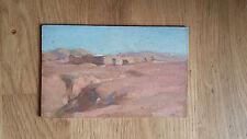 peinture ancienne désert maison Bougaha Algérie Maroc peintre orientaliste