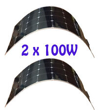 200W 2x 100W watt High Efficiency Semi Flexible Solar Panel panneau solaire